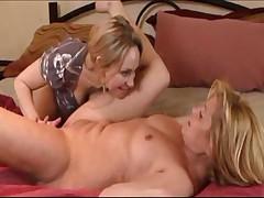 Lesbian Massage With Big Dildo