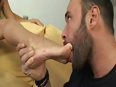 Bitch footjob