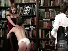Spanked In White Panties