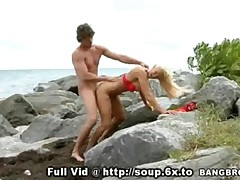 Blonde MILF Beach Bang