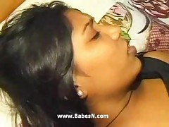 Indian babe first time with white cock