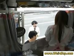 Japan cutie gets slit rubbed