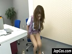 Asian secretary fuck toy upskirt