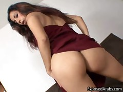 Sexy Arab girl gets horny and pleases