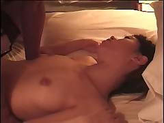 Asian horny couple having wild hardcore sex