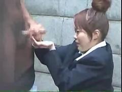 Japanese teen handjob