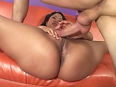 Chubby Asian with big Boos Gets Fucked