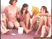 Naughty real all girl party