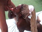 french ebony blonde in hot 3some