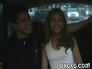 Latina has hard sex in the car