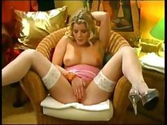 Sexy Blonde Masturbates
