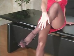 Monica Sweet in Black Pantyhose - Part I