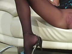 Alektra Blue pantyhose jerk off instruction