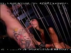 Rachel Rotten - Sucking a dick through a cage with her tight pussy! PunXXX
