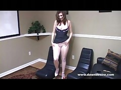 Dawn Encouraging and Teasing in Pantyhose