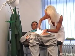 Nurse retrieves his sperm sample -