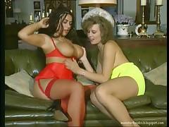 Mega Boob Tiziana Redford 4some on Sofa
