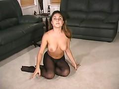 Aubrey in Black Pantyhose - Part II