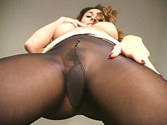 Aubrey in Black Pantyhose - Part II