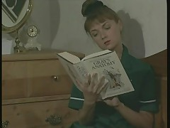 The English Nurse Unwinds in Her Pantyhose After Work