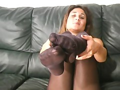Aubrey in Black Pantyhose - Part I