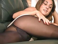 Aubrey in Black Pantyhose - Part I