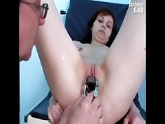 Mom Terri having pussy examined by old kinky doctor