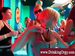 Nightclub filled with european pornstars