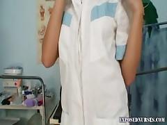Vendula blond nurse pussy gaping masturbation