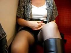 Girlfriend on train
