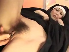 Creaming inside the nun