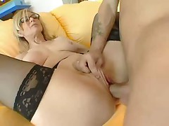 Sex with gorgeous blonde Nina Hartley