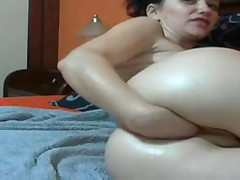 Slut Self Fistfuck Huge Toys In Her Holes