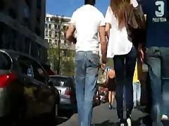 Jolie Brune Jeans Ass