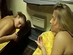French lesbian sex on a train