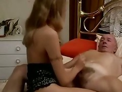 Casting old man with blonde