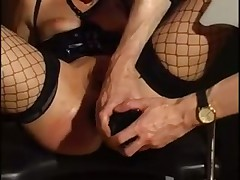 Sexy girl in stockings punished