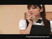 Asian maid Rika Tachibana cumming hard