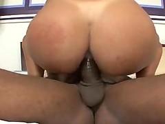 Big cock fucks her tight ass outdoors