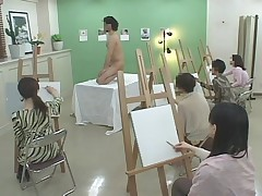 Art class model shows his a big pencil - Video from gallery: My old videos