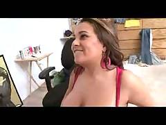 Big cock fucks a curvy slut and cums on her