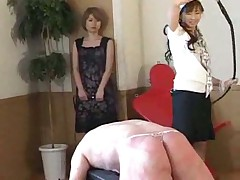 Asian girl punish her husband