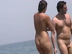Nude beach frolicking