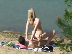 Couple sex outdoor