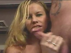 Dirty talking Tabitha Stern strokes big cock