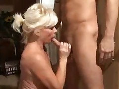 Blond German Mature Sex In The Kitchen