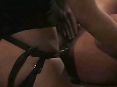 Guys step up to use the bondage slut