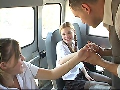 Sexy Teens Suck And Get Fuck In School Bus - PORN.COM