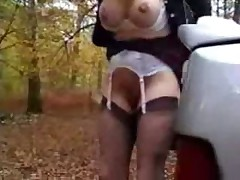 Horny bitch having fun in a funny way!!