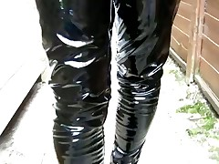 Sexy Betty In Her Shiny Creaking Pvc Jeans